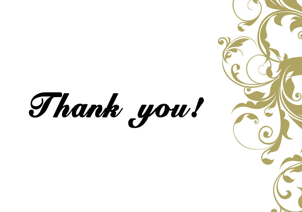 Thank You Cards Thank The People You Work With By Name A Nice Classy And Professio Printable Thank You Cards Thank You Card Template Note Card Template
