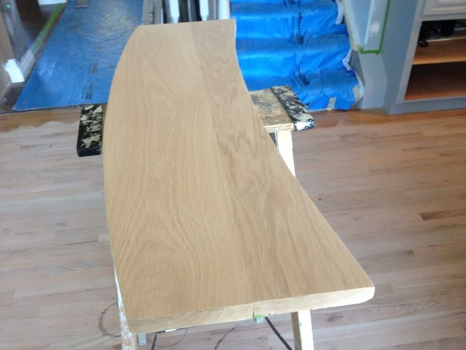 Best Curved Red Oak Stair Treads Before Stain Oak Stairs 400 x 300