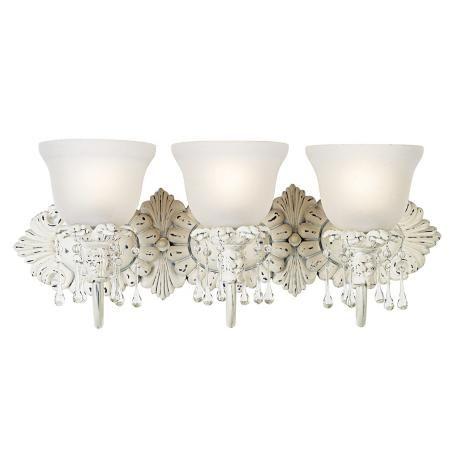 Kate old world designer 24 wide bathroom light fixture - Shabby chic lighting fixtures ...