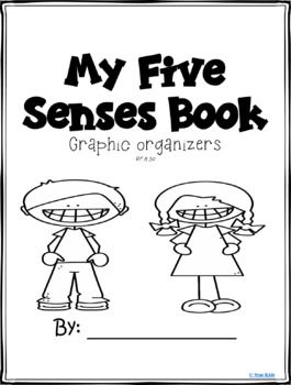 FIVE SENSES ORGANIZERS AND WRITING for Kindergarten and