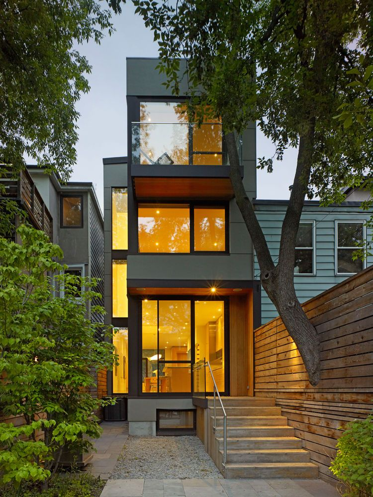 Front Elevation For Narrow House : Narrow three story house in toronto by superkul modern