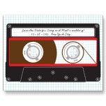 Reserva de Mixtape del indie (negro/rojo) la fecha Tarjeta Postal
