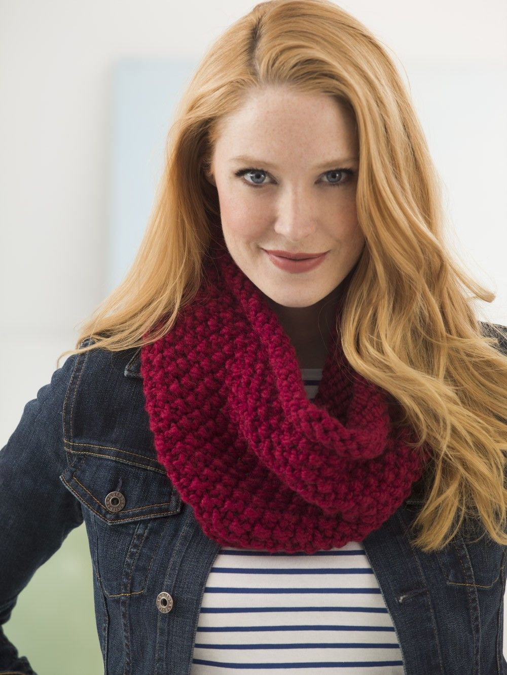 Quick Seed Stitch Cowl (Knit) - Lion Brand Yarn | Knit/Crochet ...