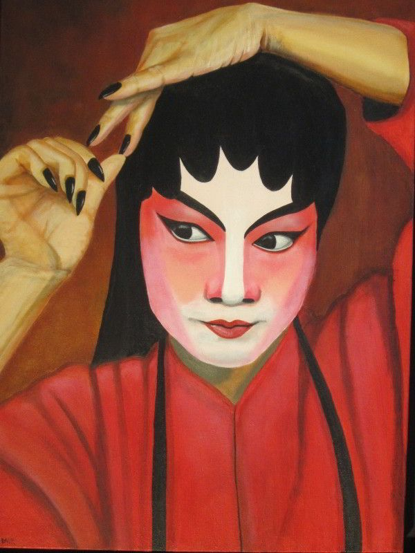 Beijing Opera Character, painting by DavyR