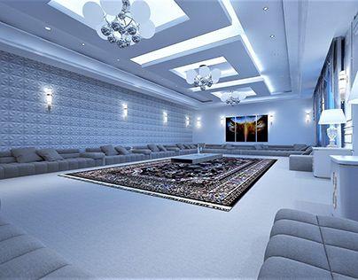 Check Out New Work On My Behance Portfolio مجلس رجال Http Be Net Gallery 7082 Luxury House Interior Design House Ceiling Design Luxury Living Room Design