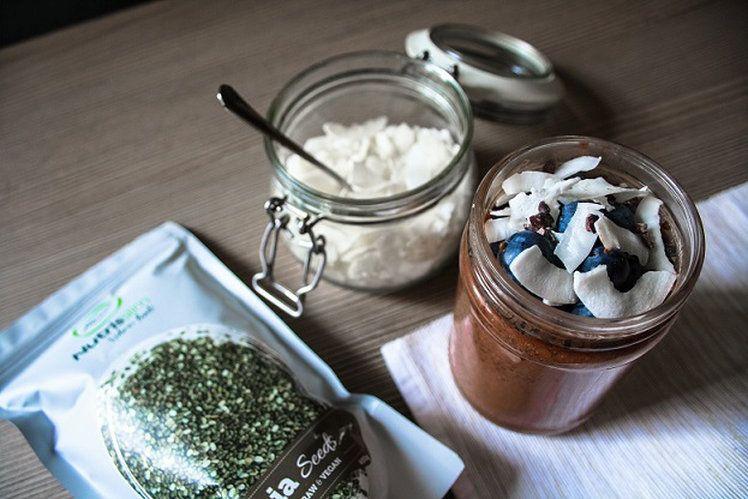 chocolate chia pudding // cokoladovz chia puding  thetrailadventure