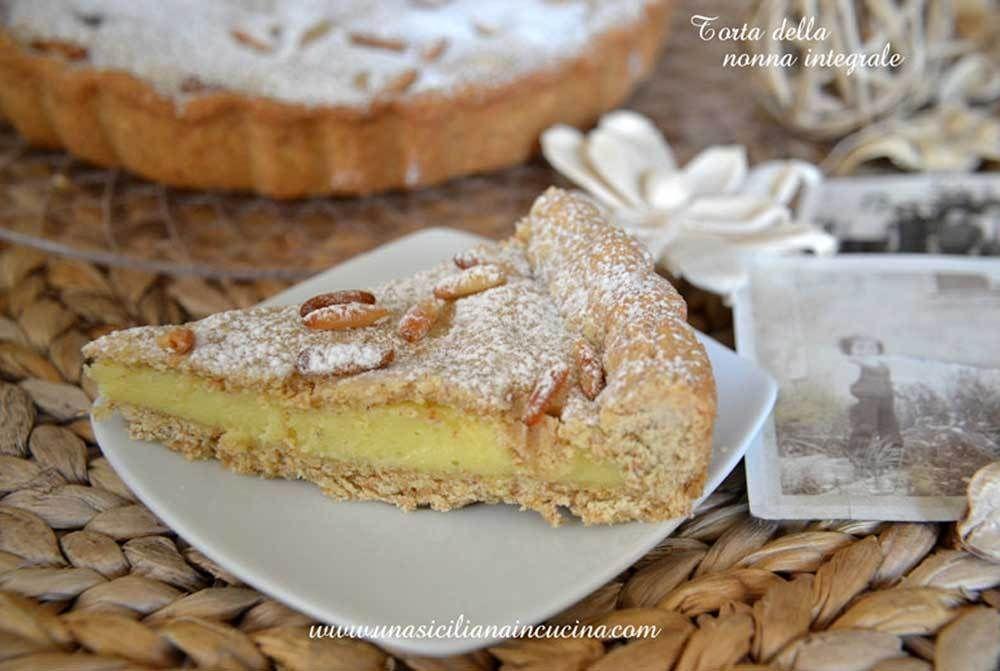 Photo of Torta della nonna integrale-Una siciliana in cucina