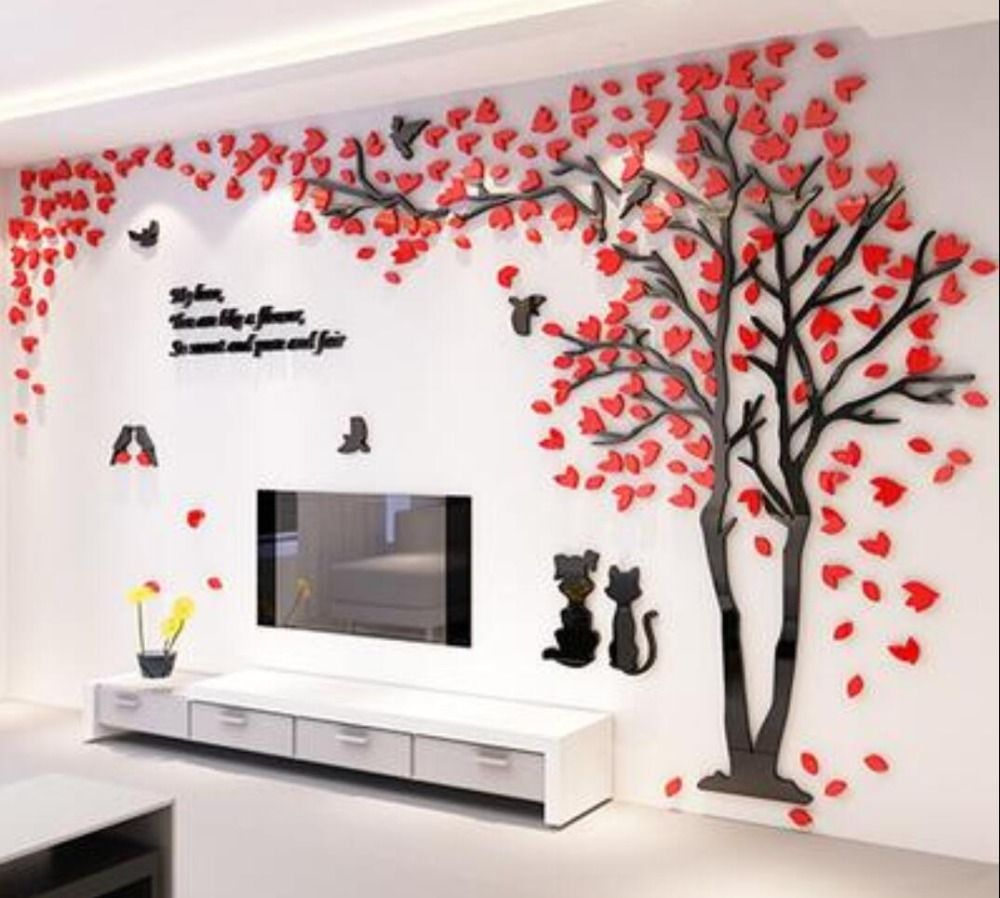 Photo of Ingenious Couple Tree 3-D Sticky label Acrylic Stereo Wall Stickers House decor TV Backdrop Residing Room Bed room Settee Wall Ornamental artwork – CanvasPrintWorld.com – Canvas Prints, Canvas Artwork & Canvas Wall Artwork On-line Store