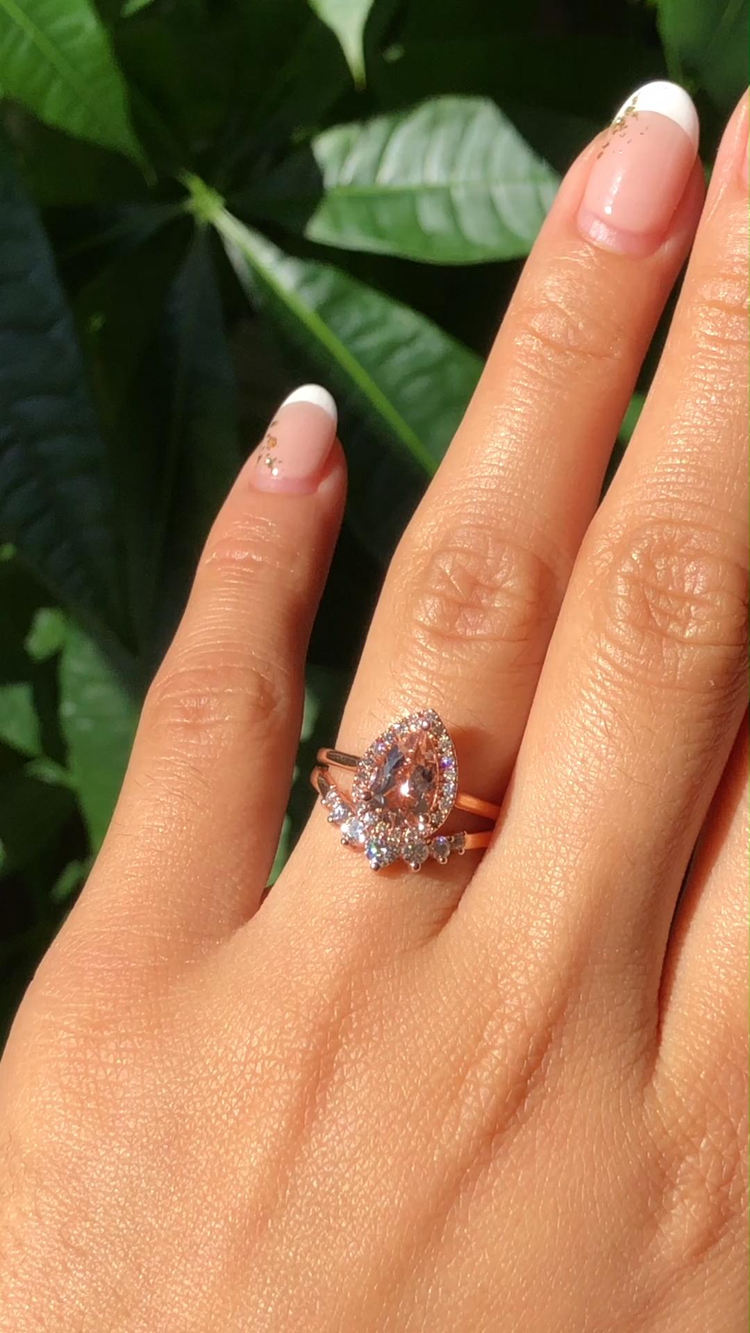 Natural Diamond Sunflower Engagement Ring 14K White Gold