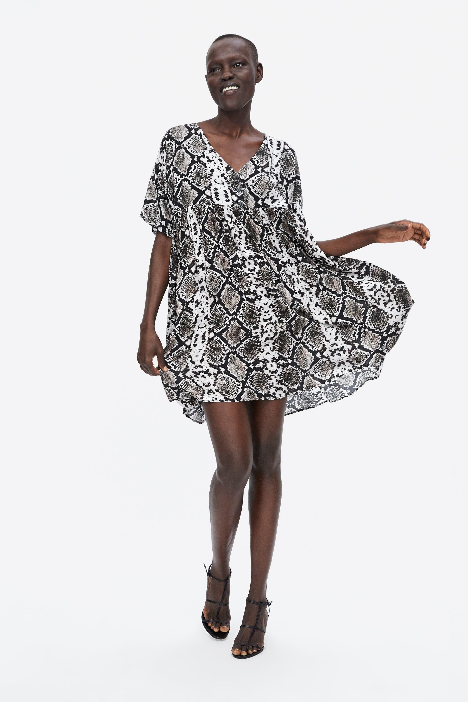 Image 1 of SNAKESKIN PRINT DRESS from Zara  728f342b6