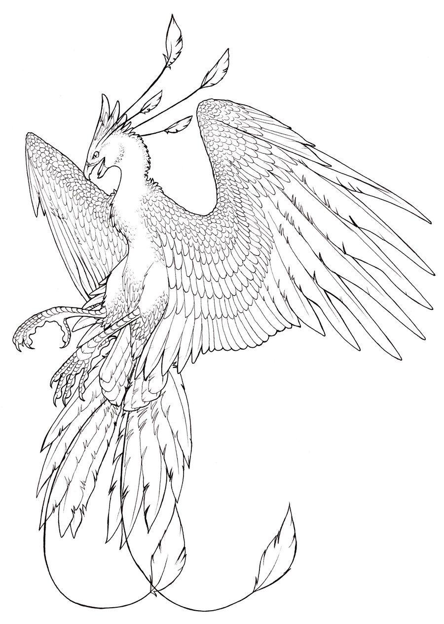 Техниках батика, птица феникс картинки рисовать
