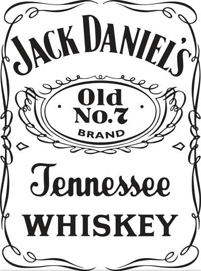 Sticker jack daniel s 101 57x77 cm 23 99 for Pochoir jack daniels