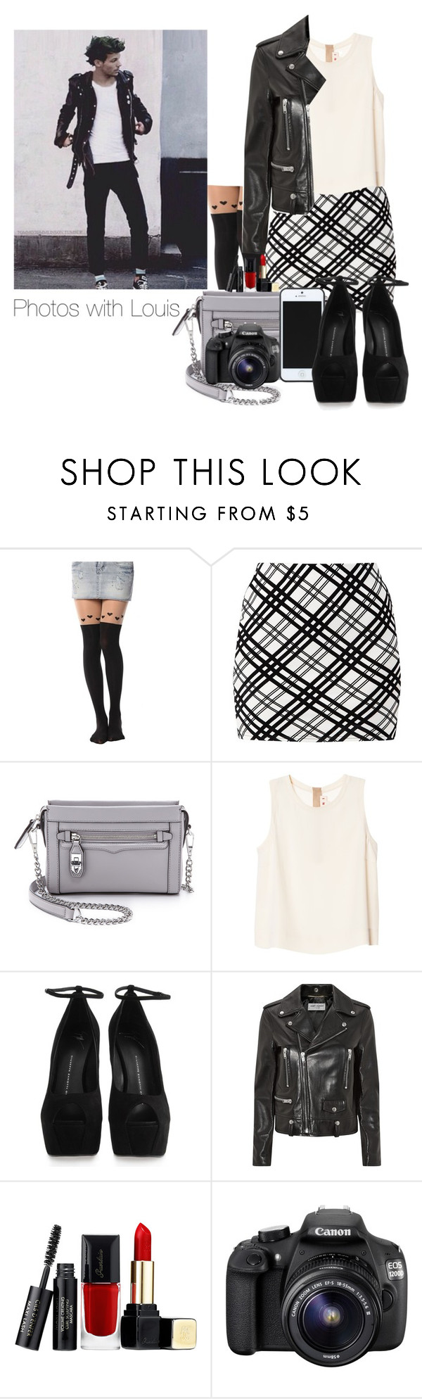 """Photos with Louis"" by smery09 ❤ liked on Polyvore featuring Innocence, Rebecca Minkoff, Marni, Kate Spade Saturday, Giuseppe Zanotti, Yves Saint Laurent, Guerlain and Eos"