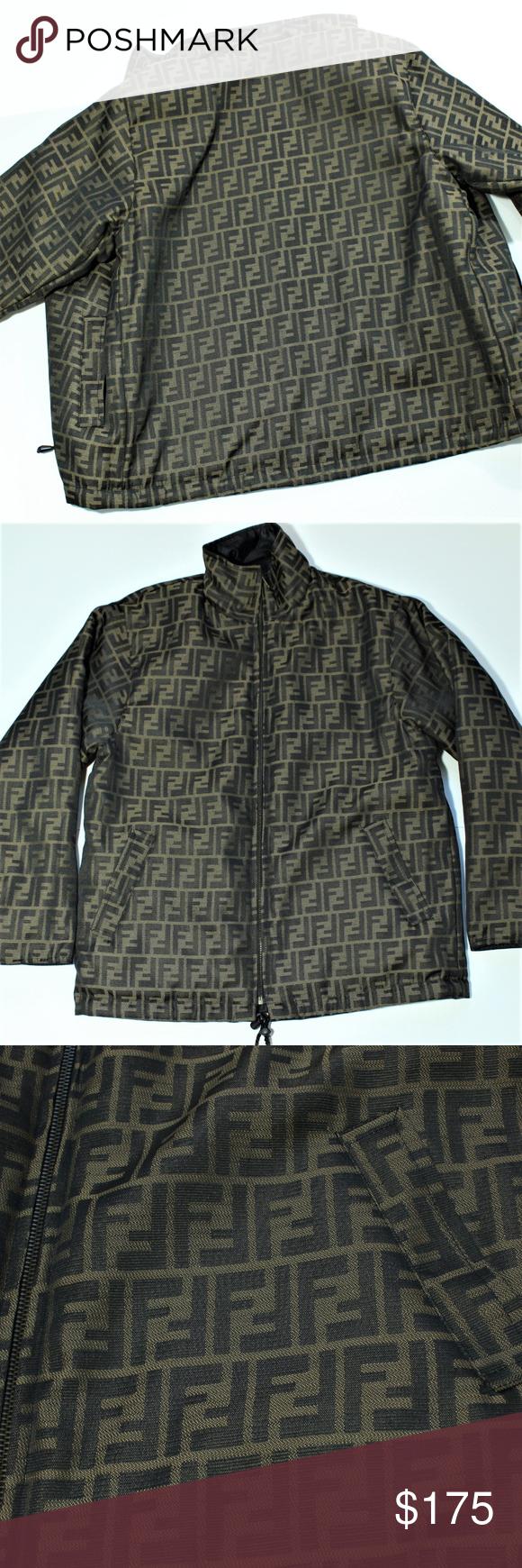 Vintage Reversible Fendi Zucca Monogram Jacket Monogram Jacket Fendi Jackets