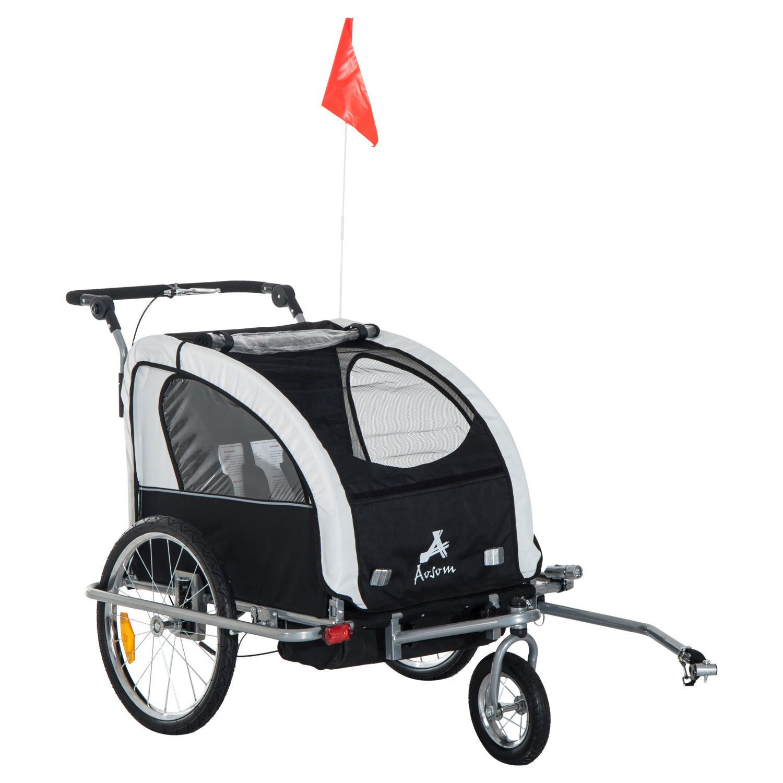 Details about Aosom Elite II Double Baby Bike Trailer