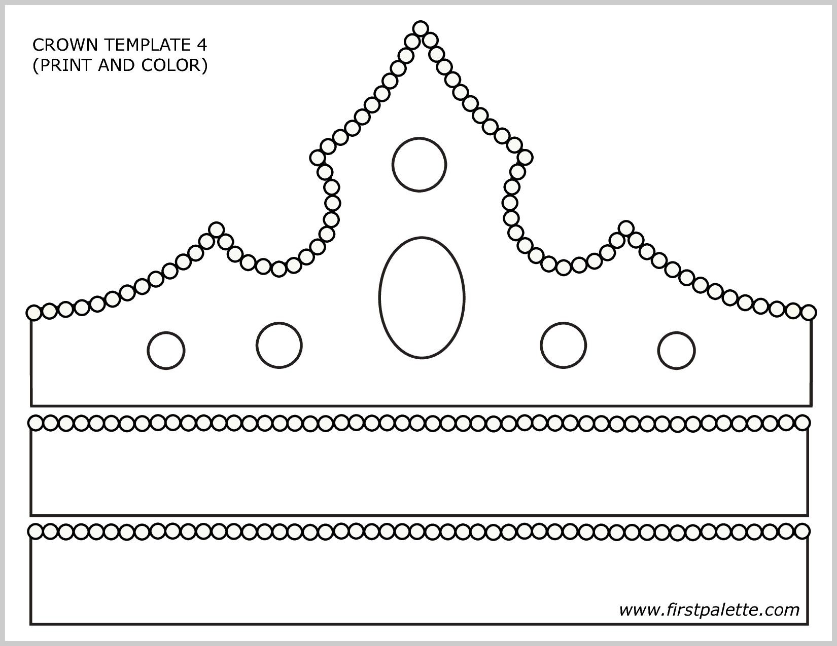 Affordable Paper Crown Template With Images Crown Template