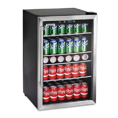 Tramontina 126 can capacity stainless steel trim wine soda beverage tramontina 126 can capacity stainless steel trim wine soda beverage center glass door refrigerator planetlyrics Image collections