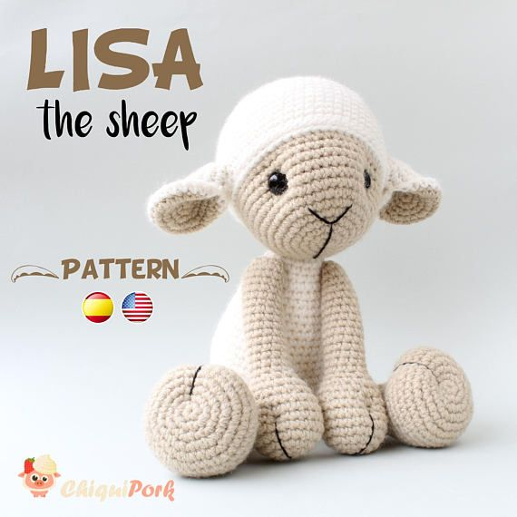 Crochet Sheep PATTERN - Amigurumi pdf tutorial - LISA the sheep ...