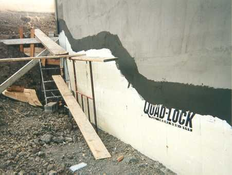 Parging Applied At Grade Level And Stucco Basecoat Above Concrete Forms Insulated Concrete Forms Concrete