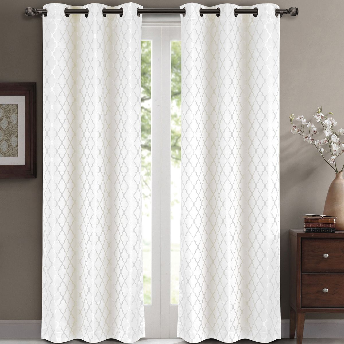 Pin By Kristy T On Decor Ideas In 2021 White Blackout Curtains Curtains Living Room White Paneling