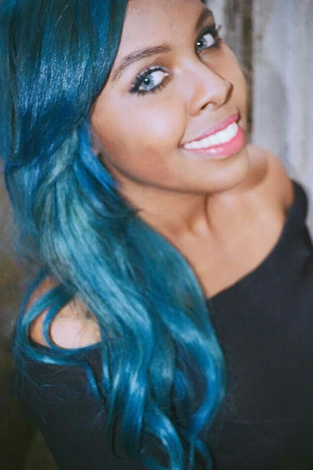 Blue Hair On Black Women Blue Hair On Black Women Tumblr Hair On