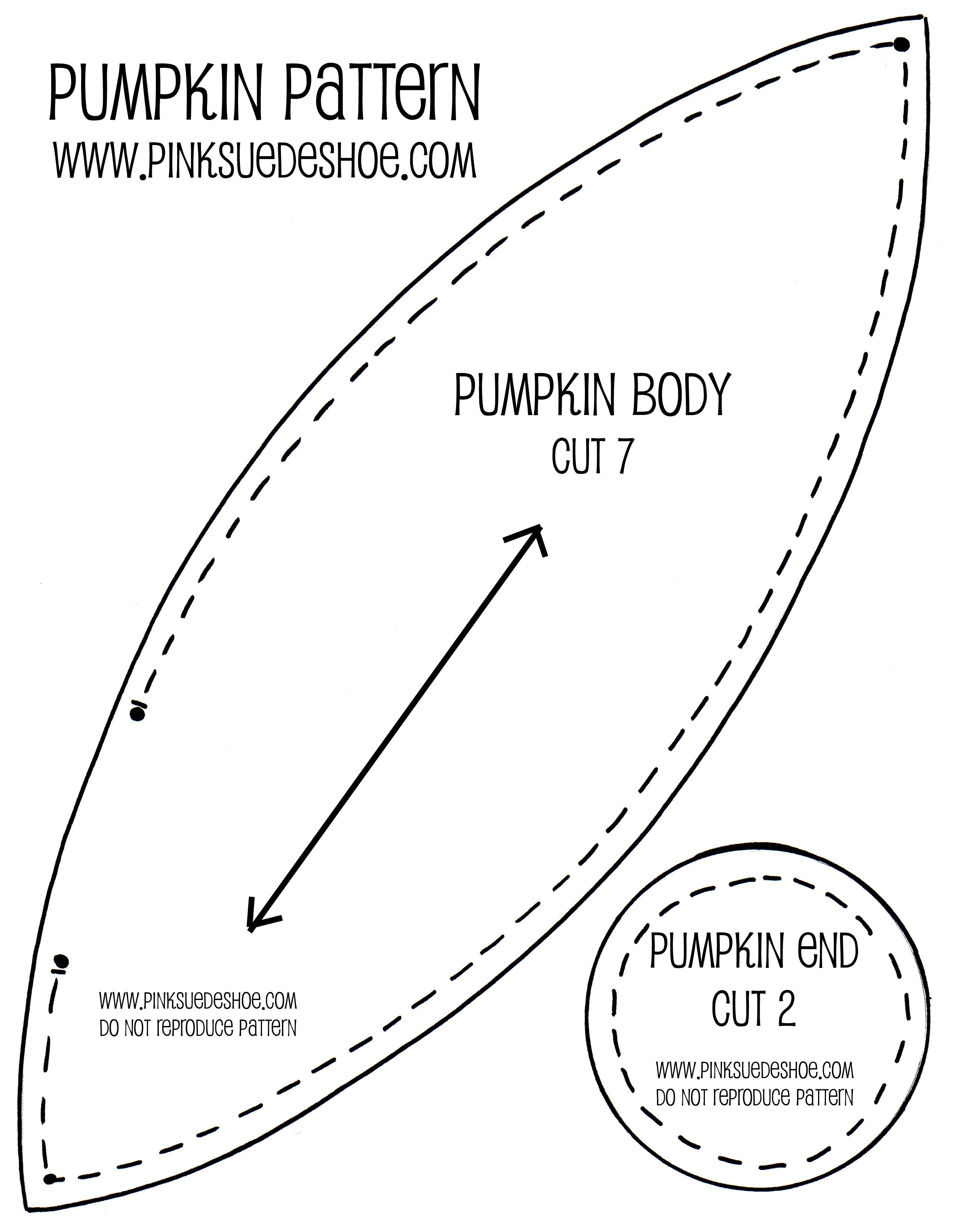 fabric pumpkin pattern free | Fall Pumpkins Tutorial | pinksuedeshoe ...