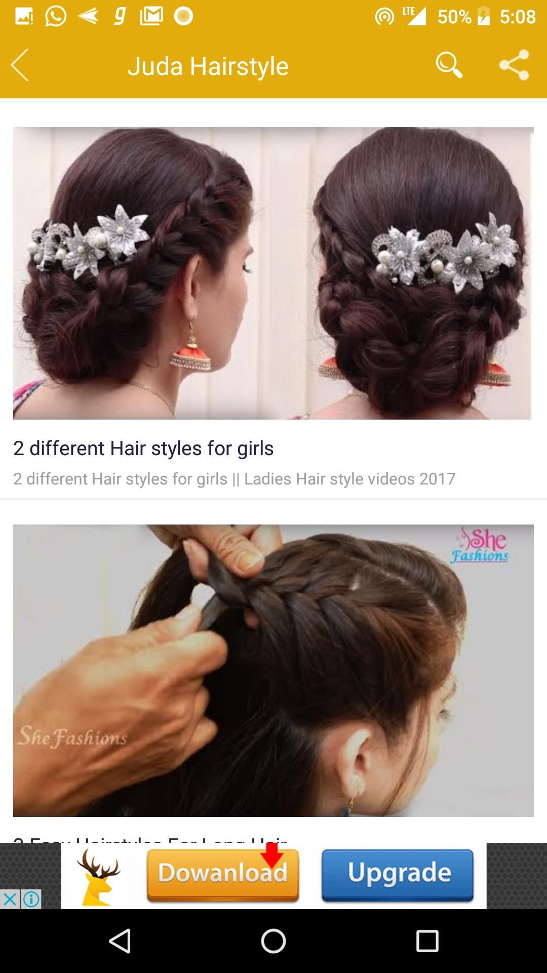 Girls Hairstyle Videos For Android Apk Download Easy Hairstyle Video Girl Hairstyles Hair Videos