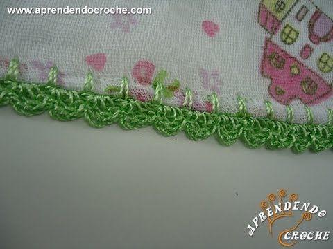 Biquinho De Croche Para Fralda Ou Cueiro Youtube Com Imagens