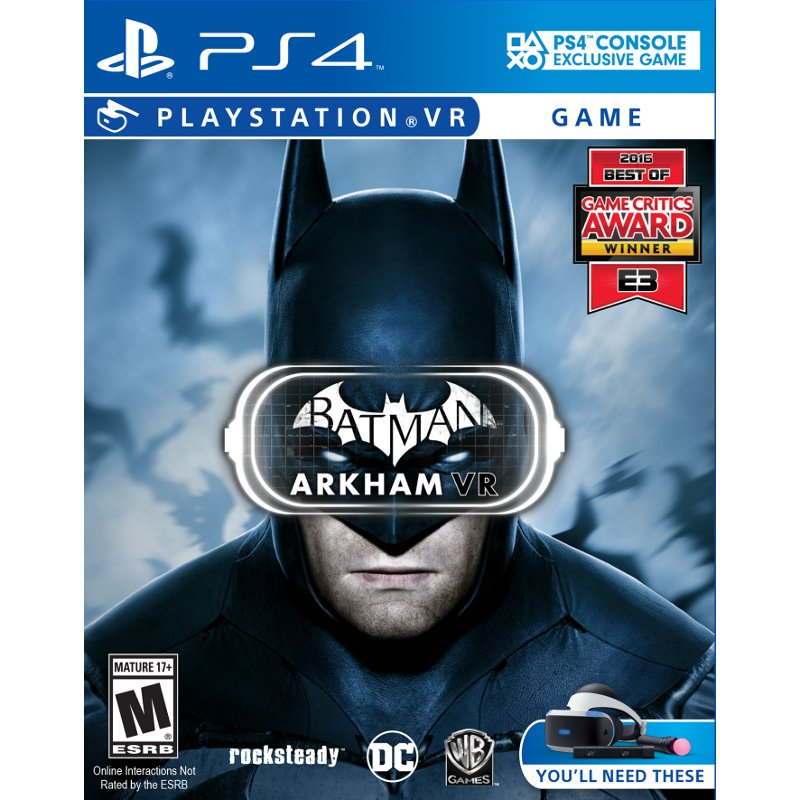 Batman Arkham Vr Ps4 Playstation Ps4 Batman