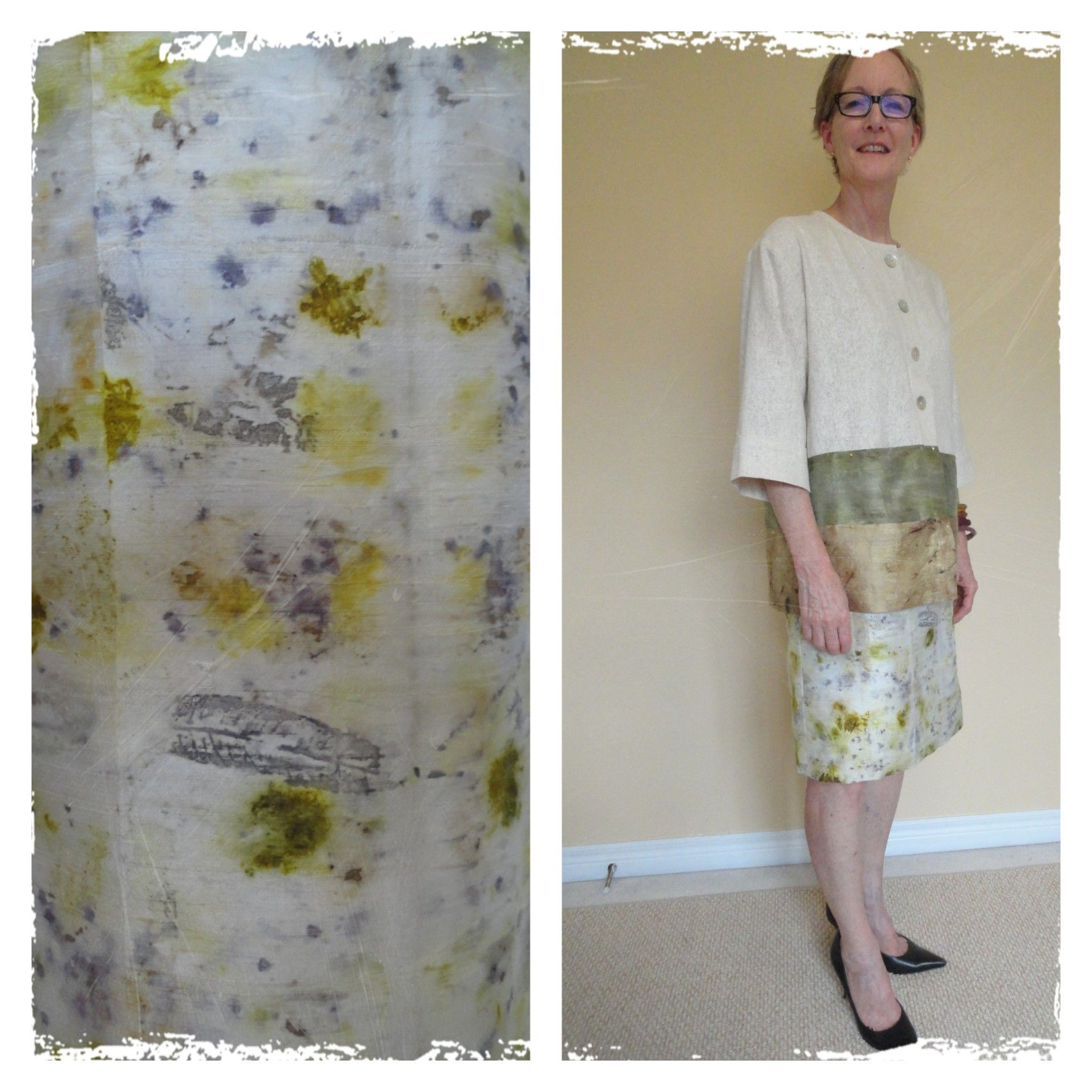 This #custommade #motherofthebride #dress is absolutely sumptuous. #Handmade #natural #dye #flowers #textiles #wedding