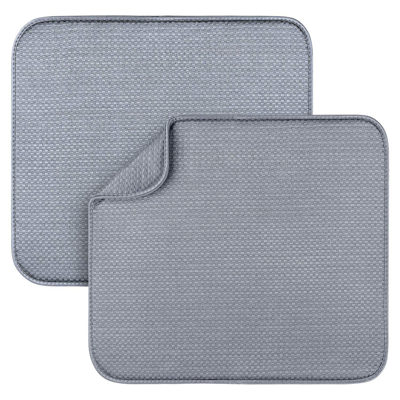 2 Pack Dish Drying Mats For Kitc Dish Drying Mat Dish Rack Drying Kitchen Counter