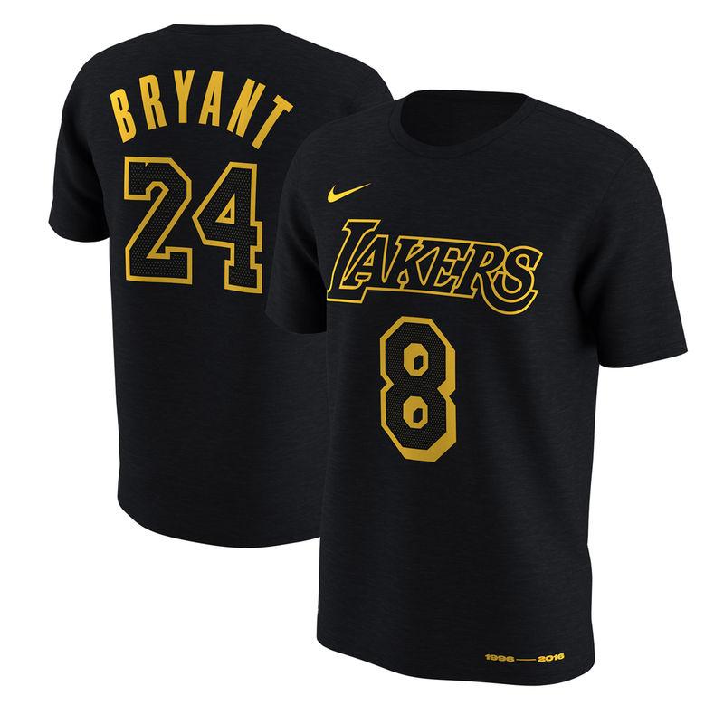 Kobe Bryant Los Angeles Lakers Nike Jersey Retirement Name Number T Shirt Black Lakers T Shirt Kobe Bryant Shirt Kobe Bryant