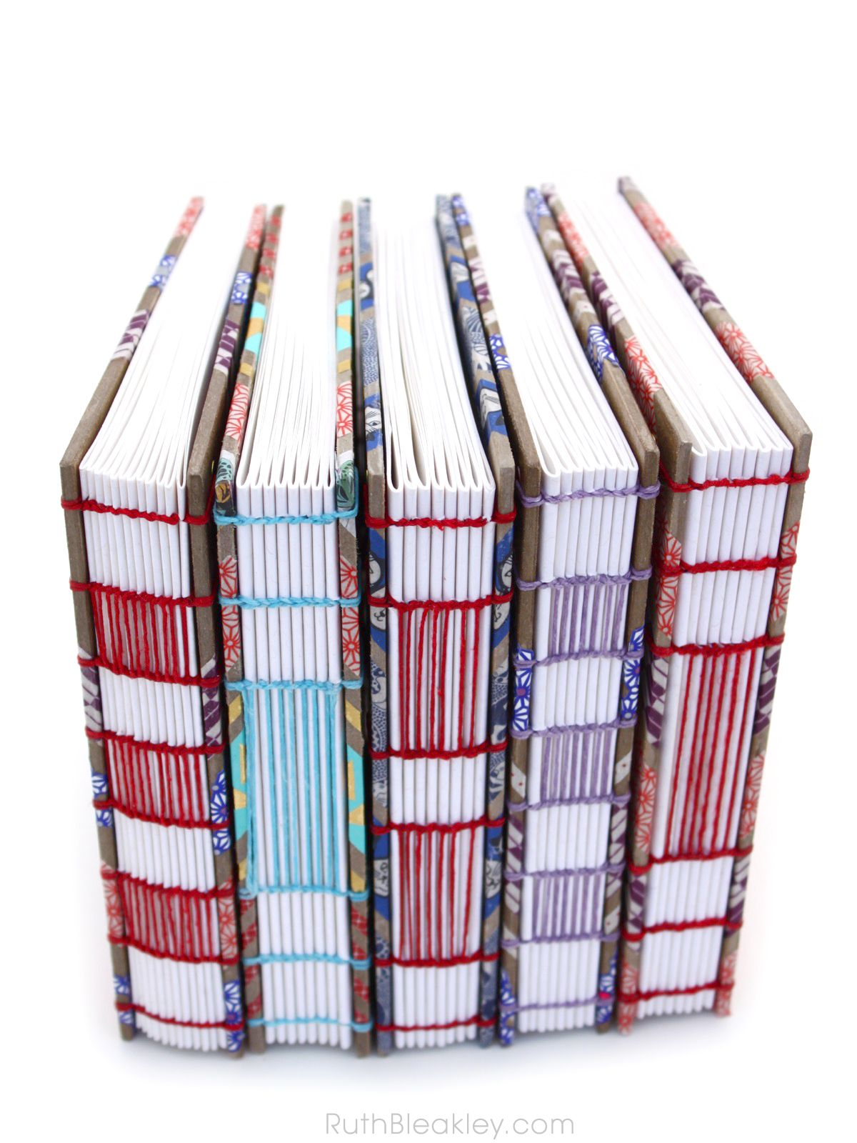 Washi Tape Journals With Ladder Coptic Stitch Handmade By Ruth Bleakley Bookbinding Journaling Washi Tape Journal Bookbinding Book Binding