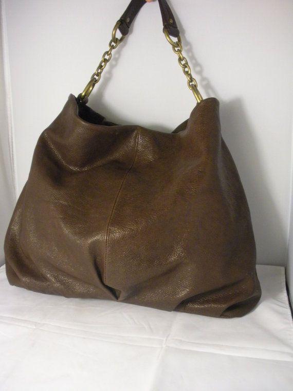 Vintage Nordstrom Leather Brown Hobo Handbag by MySoulBoutique, $45.00-SOLD