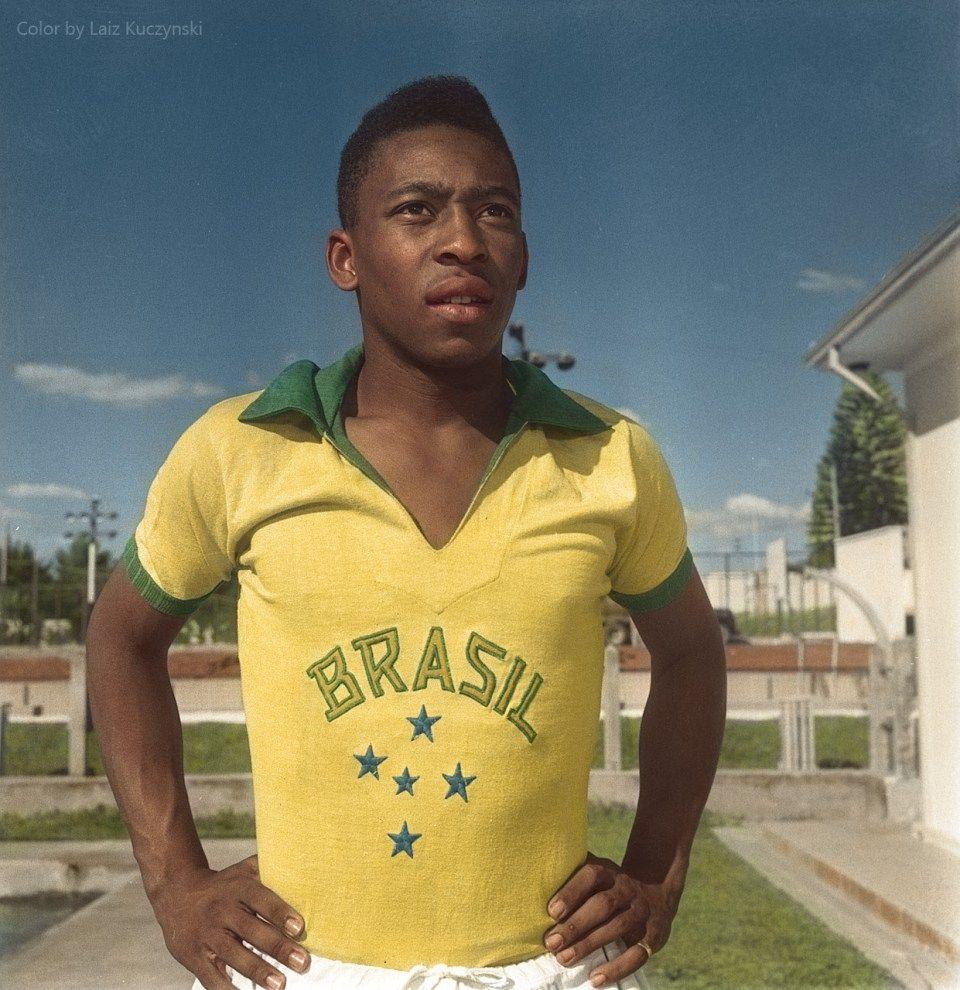 Recoloured | Pelé, 1958.