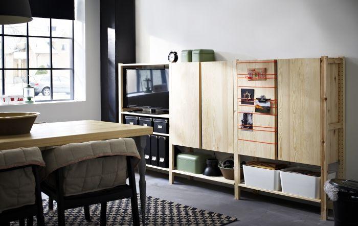 IVAR systeem | #IKEA #woonkamer #kast #kastenwand #hout #eetkamer ...