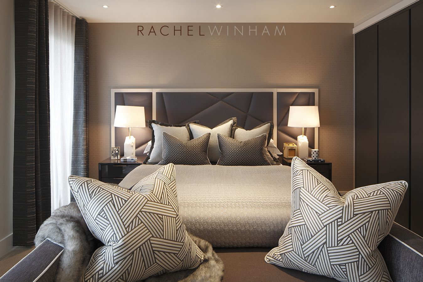 Master bedroom headboard design ideas  Pin by Leah Mougoyannis on Home  Pinterest  Bedrooms Interiors