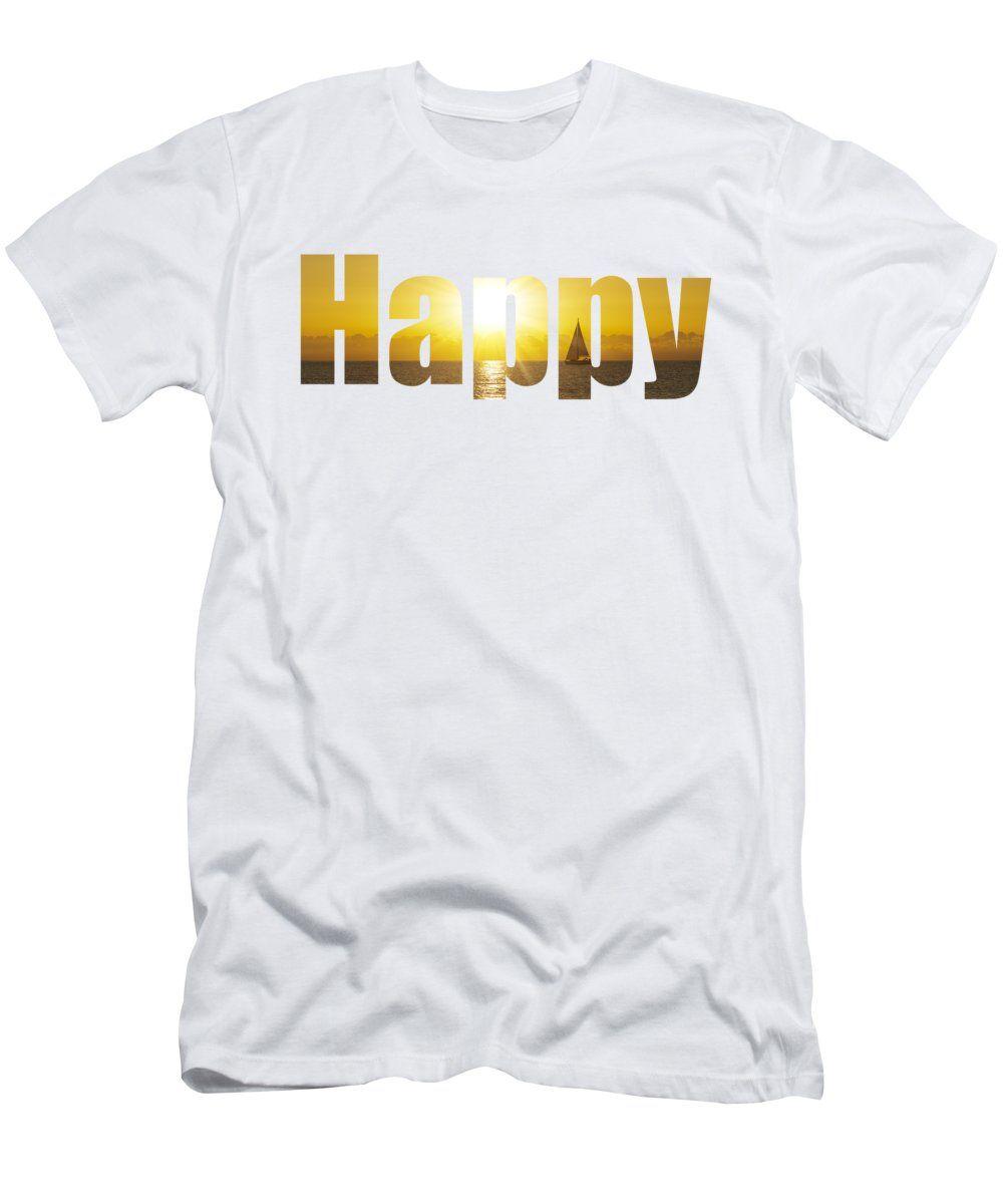 Camiseta con el texto Happy