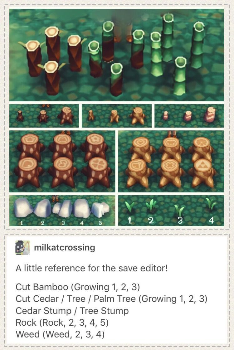 Animal Crossing New Leaf Save Editor Hacking Guide For Placing Rocks Stumps Weeds Acnl Landscaping T Animal Crossing Funny Animal Crossing 3ds Animal Crossing