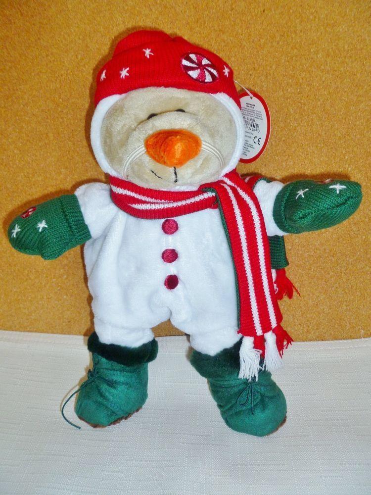 Starbucks Snowman Bear Boots Mittens Hat & Scarf Carrot Nose Christmas 2007 #Starbucks