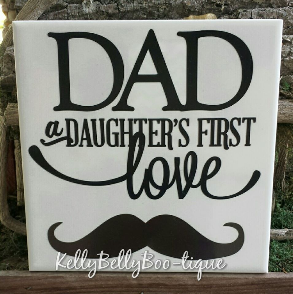 "6"" x 6"" Decorative Ceramic Tile For Dad"