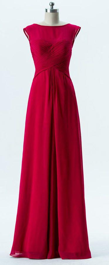 Robe de ceremonie rouge bordeaux