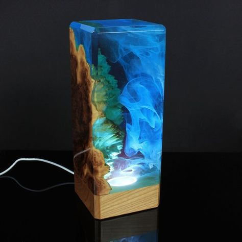 Roses And Epoxy Resin Night Lamp