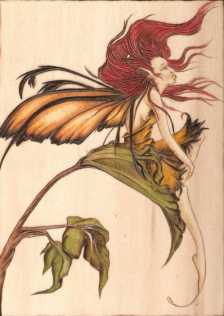 Woodburning With Watercolor Pencils Pyrography Art Art Drawings
