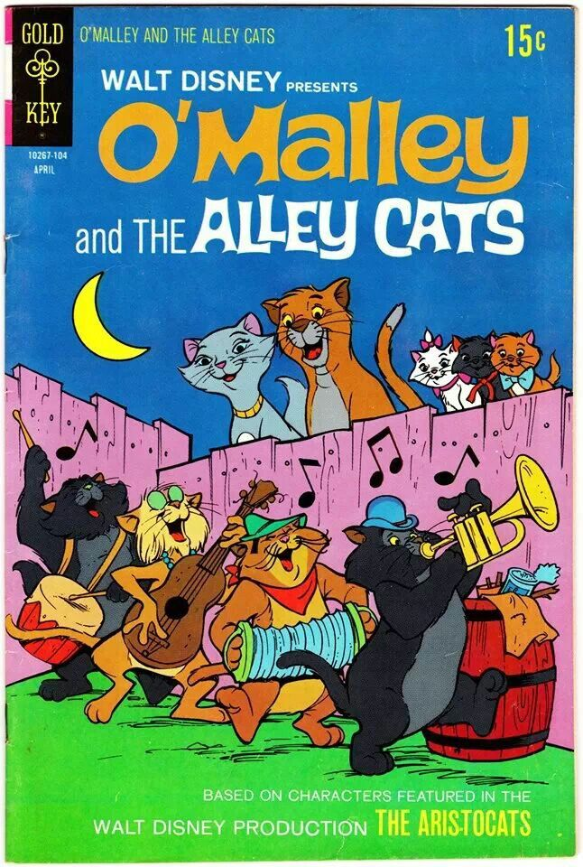 """""""The Aristocats"""" spunoff two comic book series O'Malley"""