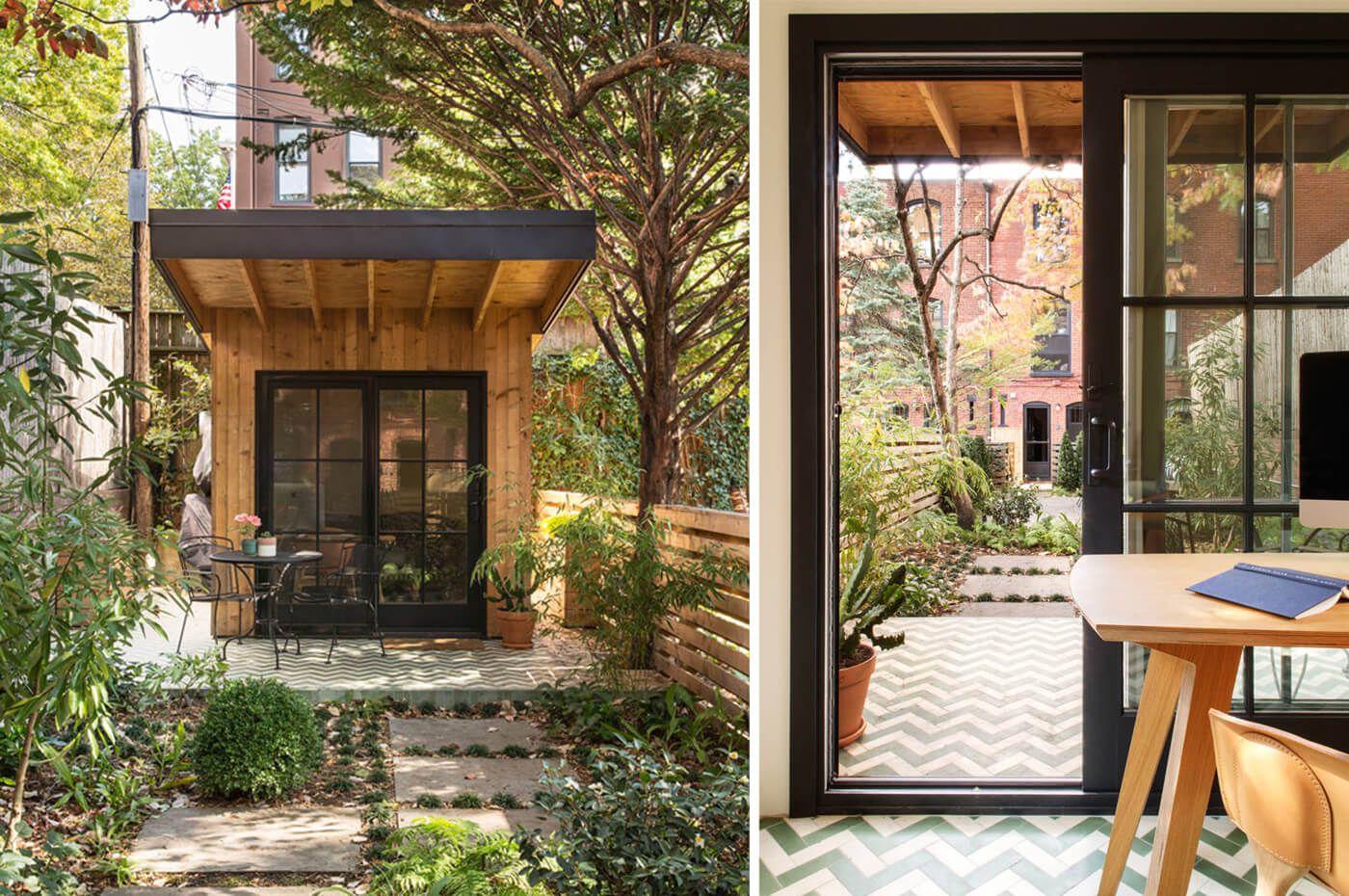 backyard studio brooklyn garden offices pinterest backyard