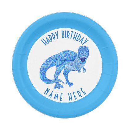 #party - #T-Rex Dinosaur Colorful Prehistoric Party Theme Paper Plate  sc 1 st  Pinterest & T-Rex Dinosaur Colorful Prehistoric Party Theme Paper Plate ...