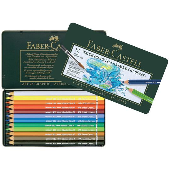 Faber Castell Albrecht Durer Watercolor Pencil Set 12 Pencil Tin