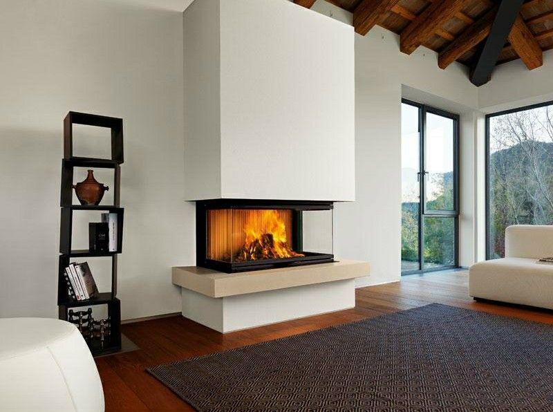 Salones con chimenea 65 ideas ardientes chimeneas for Arredamento salone con camino