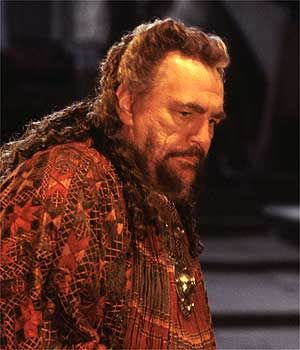 Agamemnon, king of Greece  Portrayed by Brian Cox here
